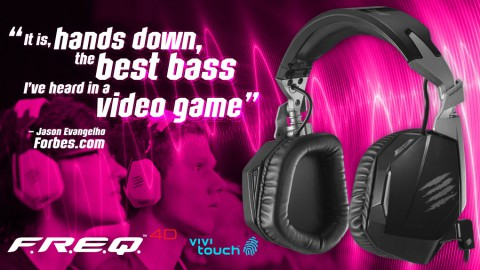 Mad Catz' F.R.E.Q. 4D Headset Receives Rave Reviews from Forbes